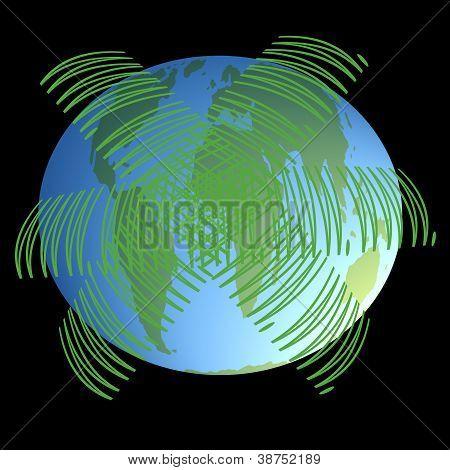 World Wide Web Around Earth