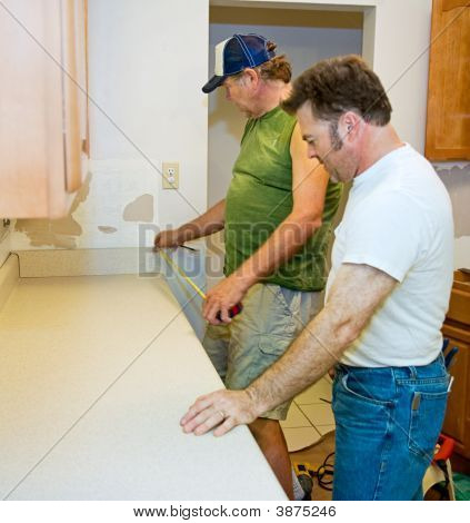 Installing Kitchen Counter - Measuring