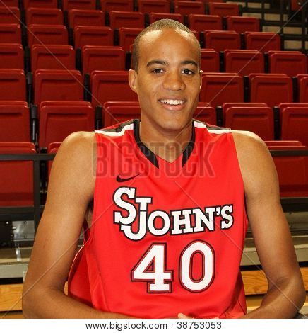 NEW YORK-OCT. 23: St. John's Red Storm forward Sam Sealy during media day on October 23, 2012 at Carnesecca Arena, Jamaica, Queens, New York.