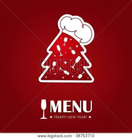 Weihnachten oder Neujahr-Speisekarte