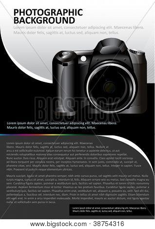 Antecedentes de vector para folleto o afiche con la cámara