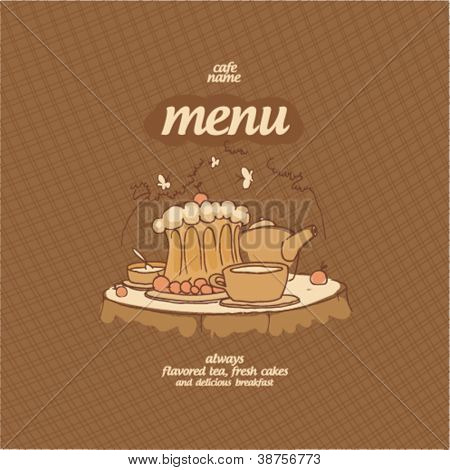Cafe Menu Card Design template.