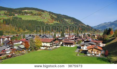 Houses At Kirchberg In Tirol  Kitzbuhel Austria