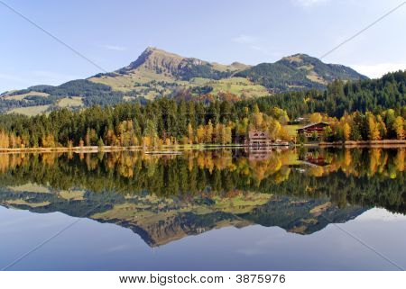 Lake And Mountains At Schwarzsee  Kitzbuhel Austria