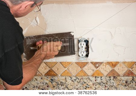 Tiling backsplash
