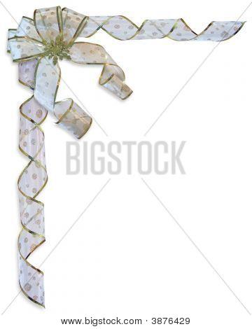 Christmas Ribbons And  Bow Border