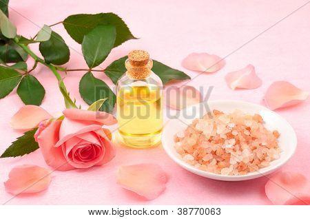Essential oil and salt