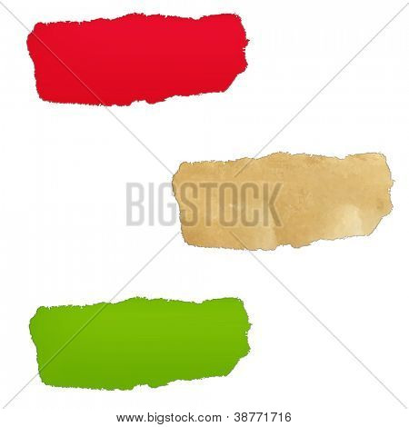 3 Color Paper Hole, Isolated On White Background
