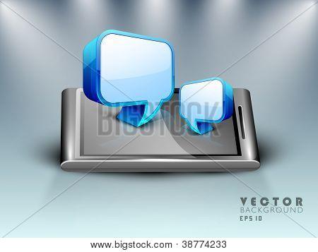 3D speech bubble or dialog box set. EPS 10.