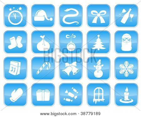 Christmas and New Year icon set
