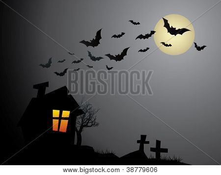 Creepy Old Halloween Haunted House