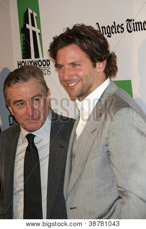 BEVERLY HILLS - OCT 22: Bradley Cooper, Robert DeNiro at the 16th Annual Hollywood Film Awards Gala at The Beverly Hilton Hotel on October 22, 2012 in Beverly Hills, California