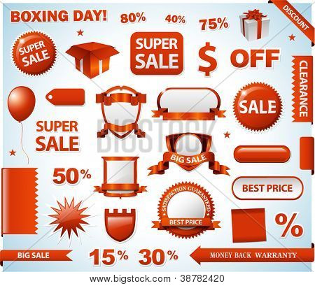 Red sale tags