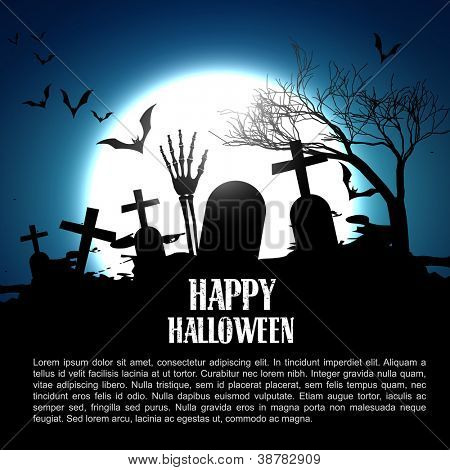 vector happy halloween design illustration