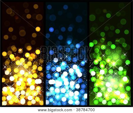 Glowing colorful christmas background. Vector eps10.