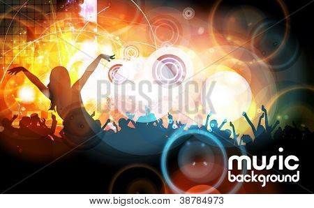 Concert illustration. Vector illustration
