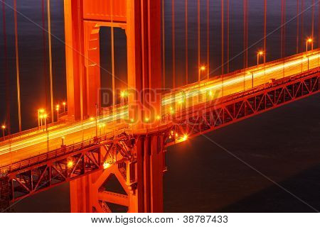 Golden Gate Brücke Detail. San Francisco, Kalifornien.