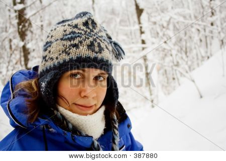 A Woman In The Snow