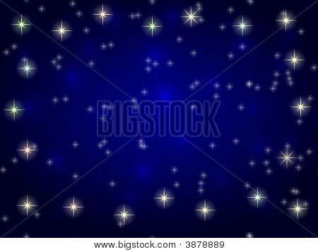 Stars On Blue