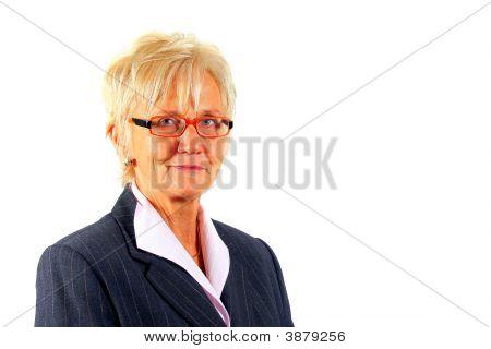 Cute Businesswoman In Her 50S