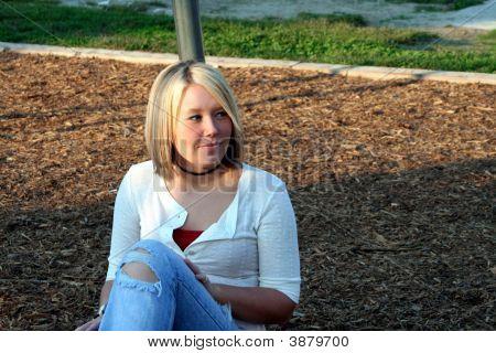 Blond On Playground Look