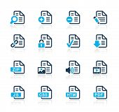 Documents Icons - 1 // Azure Series
