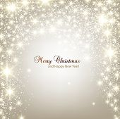 foto of sparkles  - Elegant Christmas background with snowflakes and place for text - JPG