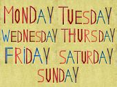foto of tuesday  - Earthy background and design element depicting the days of the week - JPG