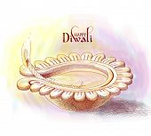 picture of jain  - Vector Diwali Oil Lamp - JPG