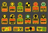 stock photo of biohazard symbol  - Zombie Apocalypse Signs - JPG