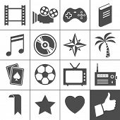 stock photo of poker hand  - Entertainment icon set - JPG