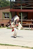 SCIEGNY, POLAND - JUNE 24: Sioux dancing ritual dance in Western City on June 24, 2012 in Sciegny, P
