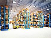 picture of export  - fine 3d image of classic warehouse - JPG