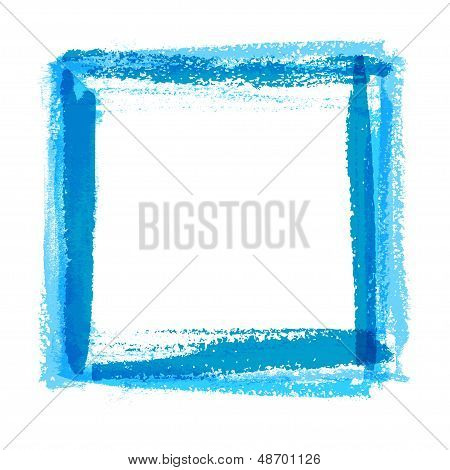 Frame for design of textured brush strokes paint on paper