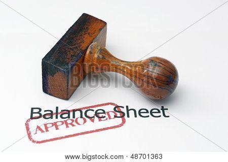 Balance Sheet - Approved