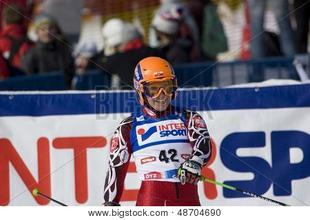 SOELDEN, AUSTRIA -OCT 25:GASIENICA DANIEL Agnieszka POL competing in the womens giant slalom race at the Rettenbach Glacier Soelden Austria the opening race of the 2008/09 Audi FIS Alpine Ski World Cup in Soelden, Austria on Oct. 25, 2008.
