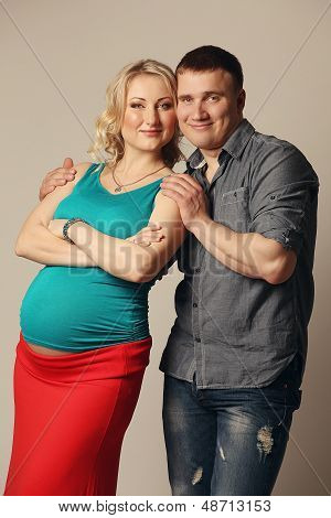 Pregnant Woman With Her Husband