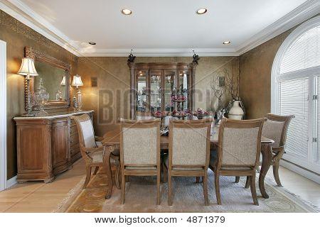 Dining Room In Brown Tones