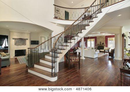 Foyer In Open Floor Plan