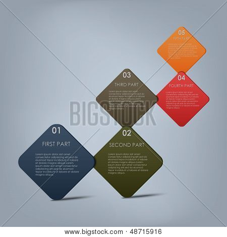 Colorful steps template background