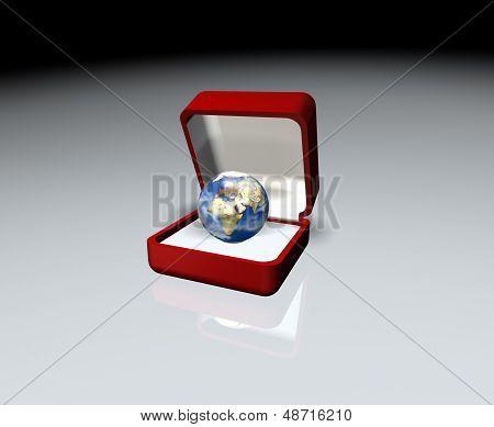 Earth in an open box