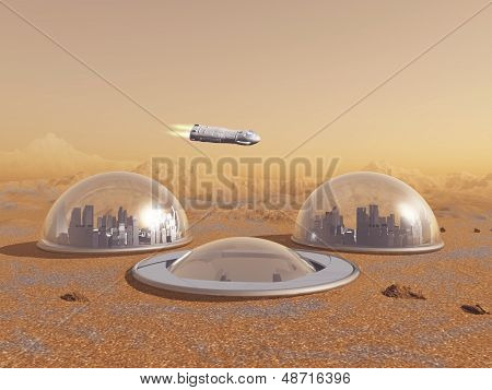Future human colony on Mars