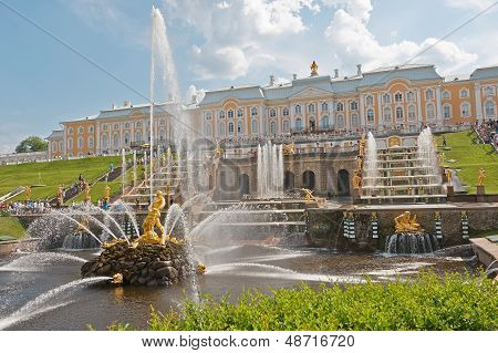 Grand Cascade Fountains Of Peterhof