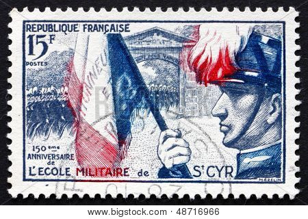 Postage Stamp France 1954 Cadets Marching Through Gateway