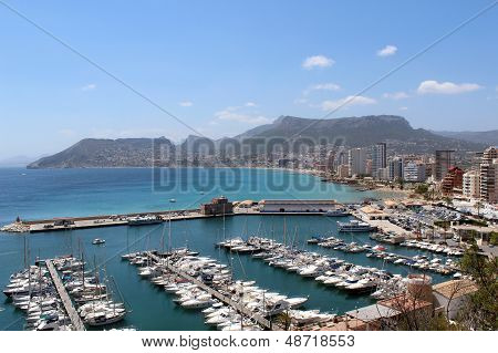 View Over Calp (spain)