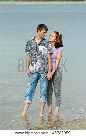 Man And Woman In The Sea Water