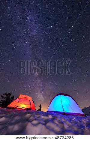 Milky Way And Tents