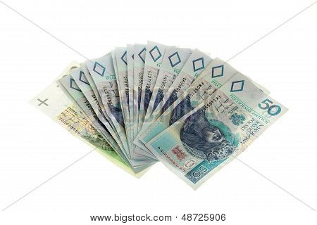 Polish Money Isolated