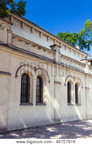 tempel synagogue in distric of krakow kazimierz in poland on miodowa street