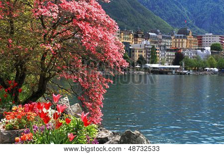 Montreux And  Lake Geneva, Switzerland.